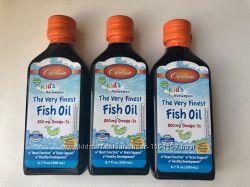 Carlson Labs, рыбий жир для детей, Омега-3 с лимонным вкусом, 200 мл
