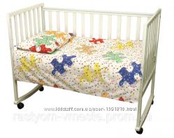 Комплект постільної білизни  для дитини  в лiжечко бязь Пазли2 ТМ РУНО
