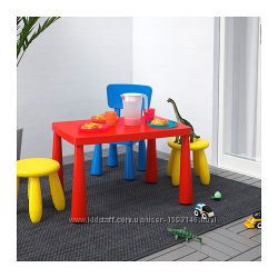 Стол и стулья ИКЕА IKEA Mammut Мамут для сада и дома