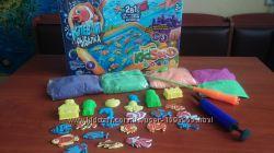 Клевая рыбалка, кинетический песок, настольная игра, надувная песочница