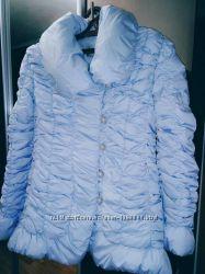 Нежно-голубая красивая теплая качественная куртка