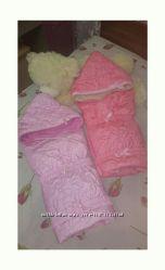 Конверт-одеяло на выписку для двойни близнецов