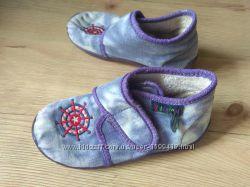Мокасины тапки тапочки на липучках текстиль 22 размер