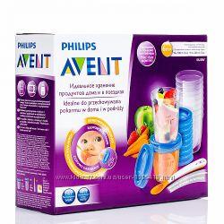 Avent phillips контейнеры для молока и пищи поштучно и наборы есть запаски