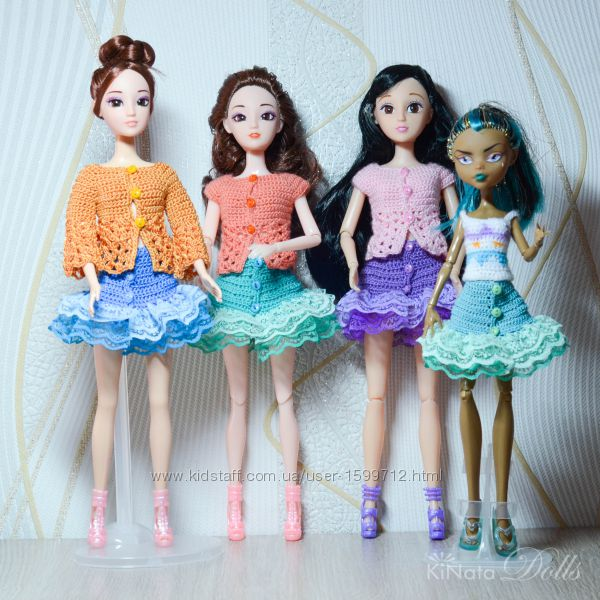 Весенняя коллекция одежды для Барби, Monster High - юбки, кофты, сумочки