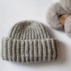 Продам теплую мохеровую шапку такори ручной работы