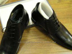 Мужские ботинки на натуральном меху, деловые, Braska, размер 43