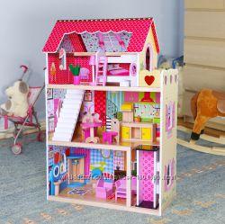 Кукольный домик  2куклы в подарок  лифт