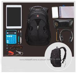 Качественный рюкзак Swissgear с ортопедической спинкой  дождевик в подарок