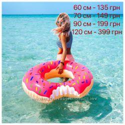 Акция Надувной круг пончик , Фламинго , арбуз , ананас Intex все размеры