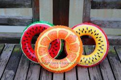 Надувной круг Арбуз кавунАпельсин Цитрус для детей и взрослых все размеры