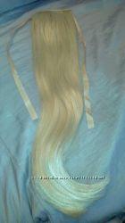 Хвост на ленте блонд