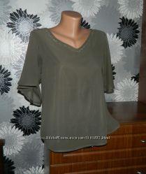 Блуза цвета хаки M&S L XL 42 14 48