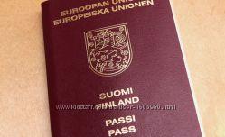 Паспорт  Польши, Финляндии, Румынии. Гражданство ЕС