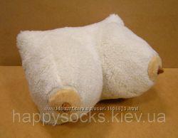 Сувенирная подушка-Грудь из набивной овчины