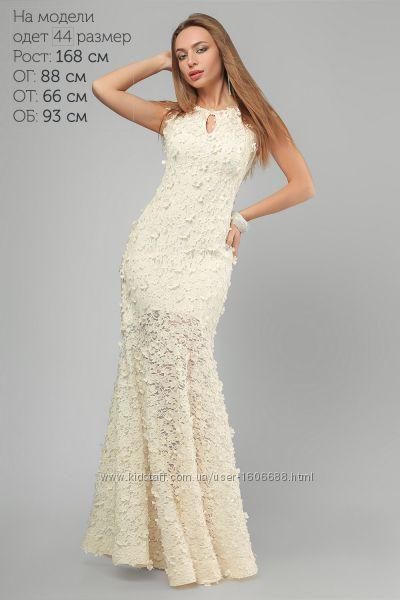 6adba58a045 3192 Вечернее Платье Белое