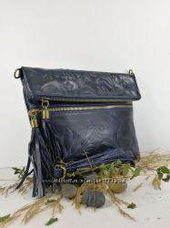 Итальянские женские сумки. Натуральная Кожа. Италия. Кроссбоди.