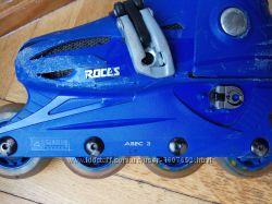 Роликовые коньки Roces 25-29р раздвижные экипировка