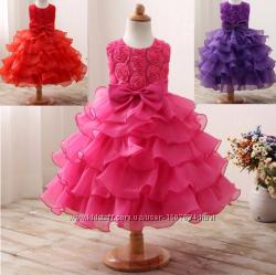 Платье бальное выпускное нарядное для девочки праздничное за колено