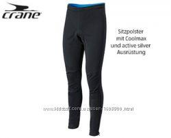 Велоштаны Softshell Crane Германия, вело штаны софтшелл тайтсы с памперсом