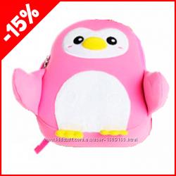 Детский рюкзак Nohoo Пингвинчик Розовый, Гарантия 1 Год