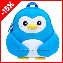 Детский рюкзак Nohoo Пингвинчик Голубой, Гарантия 1 Год