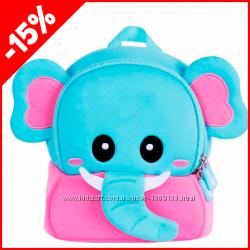 Детский рюкзак Nohoo Слоненок Розовый, Гарантия 1 Год