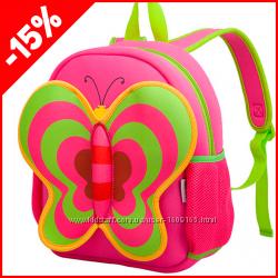Детский рюкзак Nohoo Бабочка розовая, Гарантия 1 Год