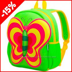 Детский рюкзак Nohoo Бабочка салатовая, Гарантия 1 Год