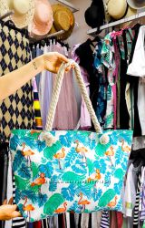 Пляжная сумка. Летняя сумка. Сумка с фламинго. Хит продаж.