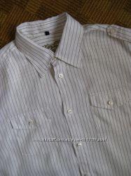 рубашка льняная из льна лён Angelo Litrico размер XL / наш 52-54рр