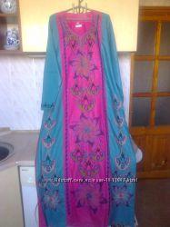 Платье - рубаха восточный бохо этно стиль на 60-64 размер, египет оригинал