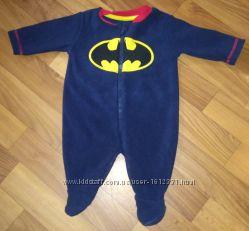 Бэтмен Прикольный человечек George комбинезон Флис Теплый бетмен супергерой