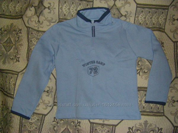 Голубая  теплая  пижама - термобелье Sport Children TEX, р. 98 -116