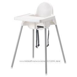 ИКЕА АНТИЛОП Высокий стульчик со съемной столешницей для кормления