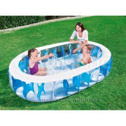 Семейный надувной бассейн Эллиптический 234х153х51см, Bestway 54066