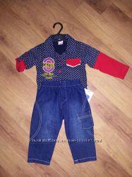 Комплект сорочка джинси
