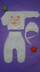 Комплекты, костюмы, наборы для новорожденных в роддом, на выписку