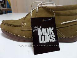 Туфли мужские, кожа, прошитые, легкие на шнурках цвета хаки из США
