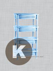 Напольные полки этажерки пластиковые