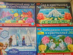Опыты Сад в кристаллах, Подводный мир, Лебединое озеро в кристаллах