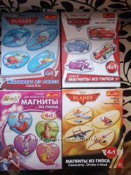 Магниты из гипса Самолёты, Тачки, Winx, Принцессы