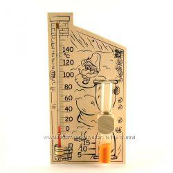 Банная станция термометр  часы
