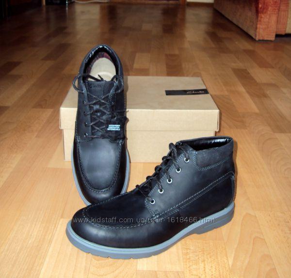 Clarks. р43-45. Кожаные водонепроницаемые ботинки. Оригинал. В наличии Киев