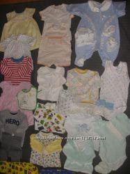 Микс одежды от 0 до 1 года на весну-лето-осень для девочки