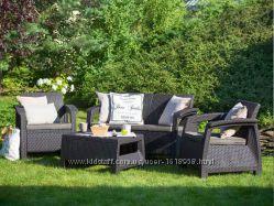 Садовая мебель из искусственного ротанга Allibert Голландия для дома, кафе
