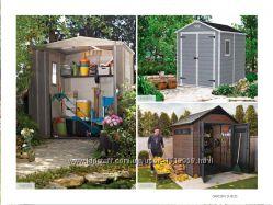 Садовые домики и шкафы для инструмента Allibert, Keter Голландия.