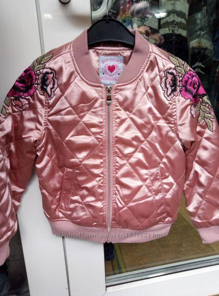 Куртка бомбер для девочек. Новое. Деми-сезон