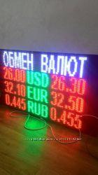 Табло Обмін валют 640х960мм одностороннє. Рекламна вивіска, лед екран