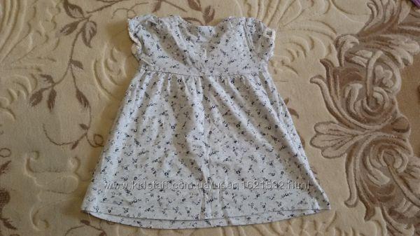Детское легкое летнее платье next некст на девочку 1-2 года